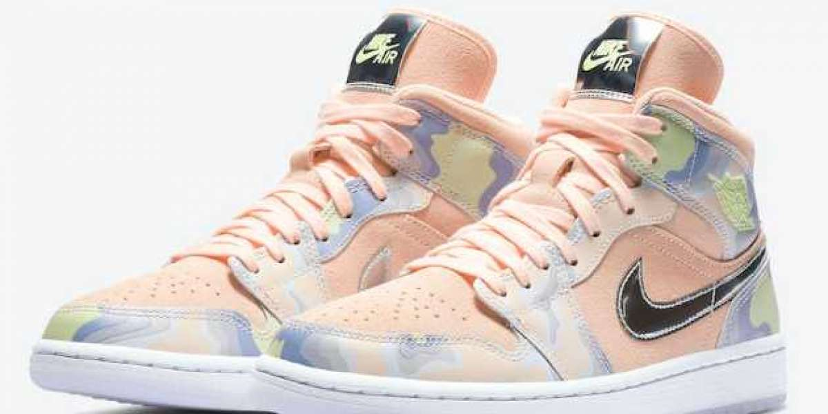 """Air Jordan 1 Mid SE WMNS """"P(Her)spective"""" Washed Coral/Chrome-Light Whistle 2020 CW6008-600 For Sale Online"""