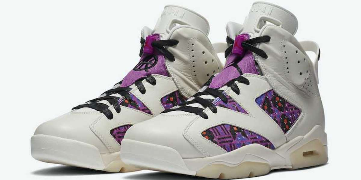 "Unique ethnic design Air Jordan 6 ""Quai 54"" Sports Shoes For Sale CZ4152-100"