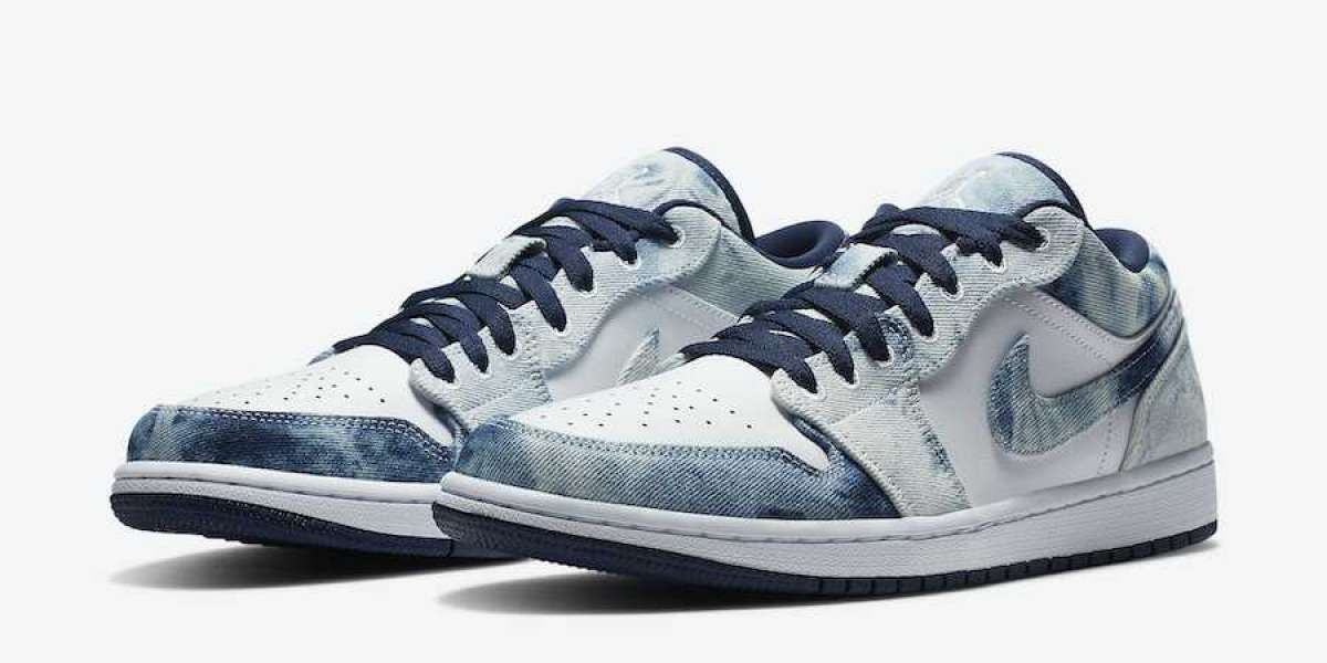 "Nike Brings Jordan 1 With Upcoming Air Jordan 1 Low ""Washed Denim"" CZ8455-100"